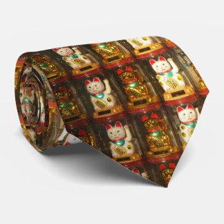 Maneki-neko, Winke-Glueckskatzen, Winkekatze Corbatas Personalizadas