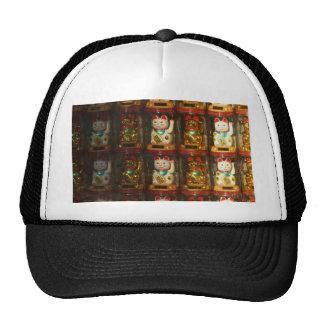 Maneki-neko, Winke-Glueckskatzen, Winkekatze Gorros Bordados