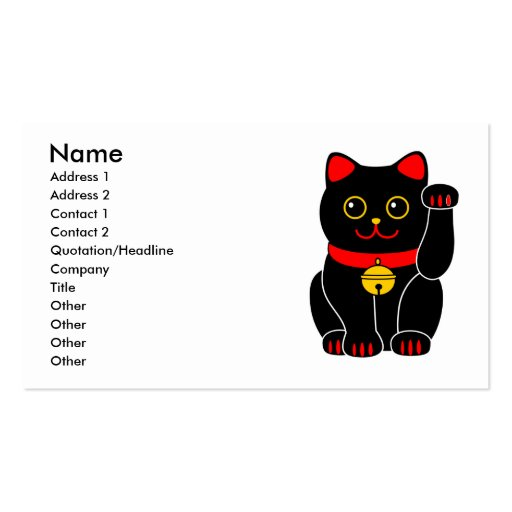 Manekineko-Lucky cat(beckoning cat) Business Cards