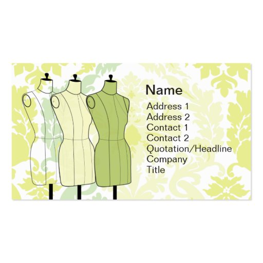Manequins - Business Business Card Templates