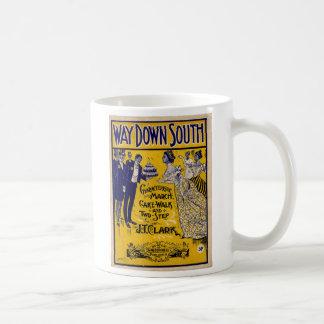 Manera abajo al sur tazas de café