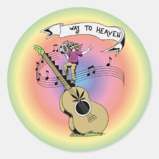 Manera al signo de la paz del Hippie del ~ 60s del Pegatinas Redondas
