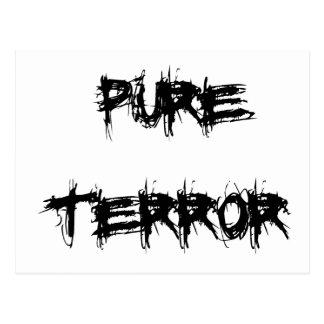 Manera asustadiza de la película de terror del postal