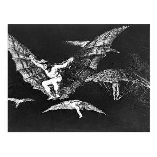 Manera de Francisco Goya- A de vuelo Tarjeta Postal