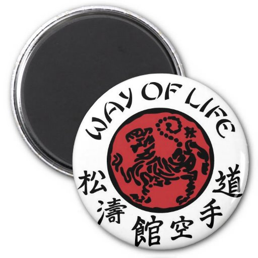 Manera de imán de Shotokan de la vida