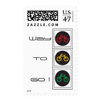 Manera de ir a completar un ciclo timbre postal