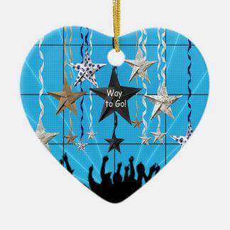 ¡Manera de ir! , Estrellas que cuelgan con la Adorno Navideño De Cerámica En Forma De Corazón