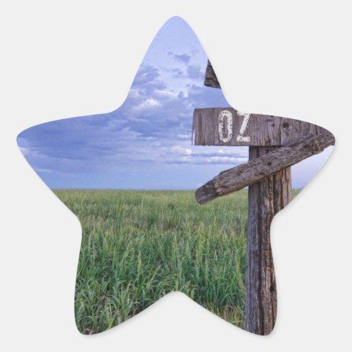 Manera de la bruja a la onza pegatina en forma de estrella
