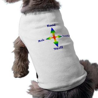 manera de la flecha 4, comida, frotación, rasguño, playera sin mangas para perro