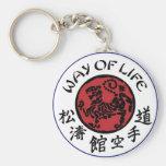 Manera de llavero de Shotokan de la vida