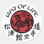 Manera de pegatina de Shotokan de la vida