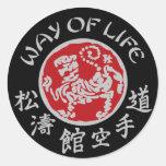 Manera de pegatina oscuro del logotipo de Shotokan