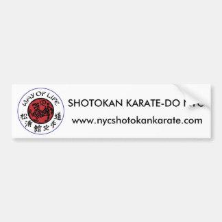 Manera de pegatina para el parachoques de Shotokan Pegatina Para Auto