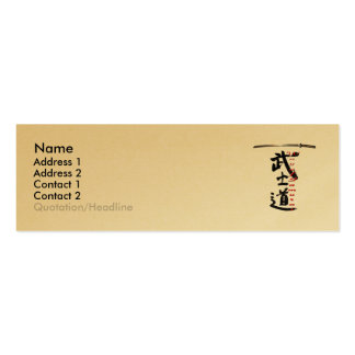 Manera de tarjeta del perfil del samurai tarjetas de visita mini