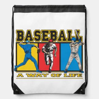 Manera del béisbol de vida mochila