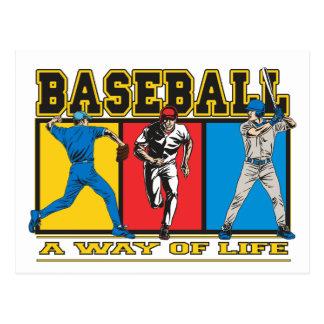 Manera del béisbol de vida postal