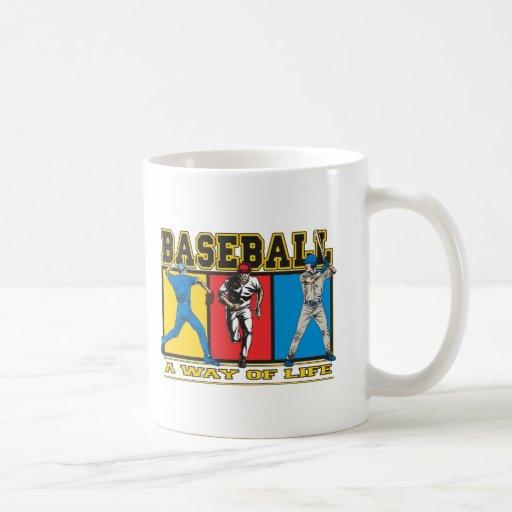 Manera del béisbol de vida taza de café
