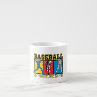 Manera del béisbol de vida taza espresso