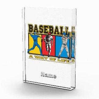 Manera del béisbol de vida