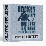 Manera del hockey de álbum de la tarjeta de la vid