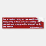 Manera del impuesto a la prosperidad (Churchill) Pegatina De Parachoque
