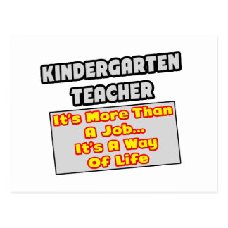 Manera del maestro de jardín de infancia… de vida tarjeta postal