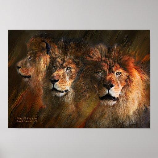Manera del poster/de la impresión del arte del leó