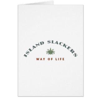 Manera del Slacker de la isla de vida Tarjetón