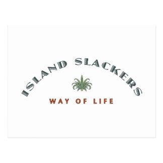 Manera del Slacker de la isla de vida Tarjeta Postal