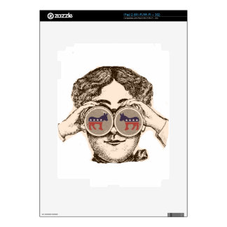 Manera ella la ve - Demócrata iPad 2 Calcomanía