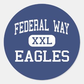 Manera federal - Eagles - alta - manera federal Pegatina Redonda