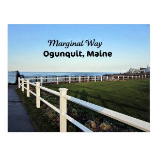 Manera marginal, Ogunquit, Maine Tarjeta Postal