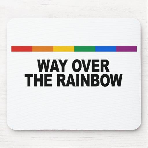 Manera sobre el arco iris tapete de ratón