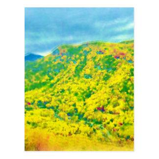 Manera sobre las montañas postales