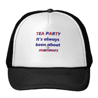 Maneras de la fiesta del té gorro