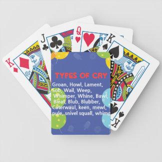 Maneras de llorar baraja cartas de poker