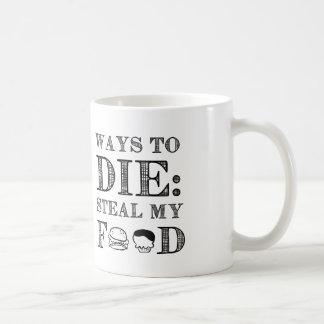 Maneras de morir tazas de café