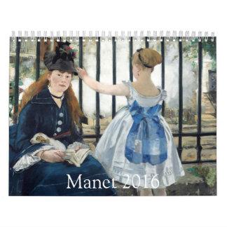 Manet 2016 calendar