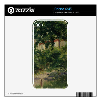 Manet | A Corner of the Garden in Rueil, 1882 iPhone 4S Skins
