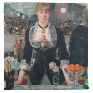 Manet Bar at Folies Bergère Fine Art Napkin