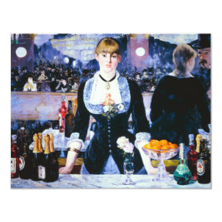 Manet Bar at the Folies Bergere Invitations