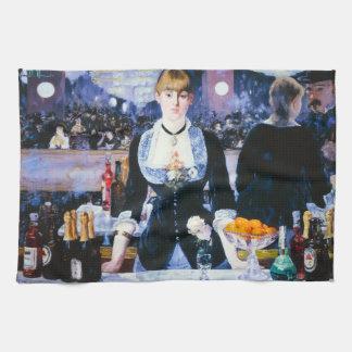 Manet Bar at the Folies Bergere Kitchen Towel