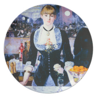 Manet Bar at the Folies Bergere Plate