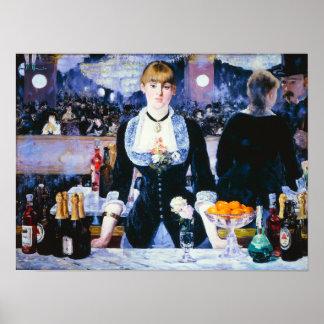 Manet Bar at the Folies Bergere Poster