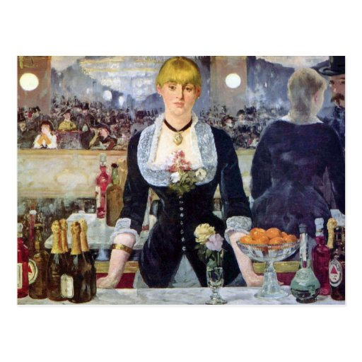 Manet Bar In The Folies-Bergere Postcard