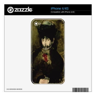 Manet | Berthe Morisot Wearing a Veil, 1872 iPhone 4 Skins