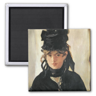 Manet | Berthe Morisot with a Bouquet of Violets 2 Inch Square Magnet