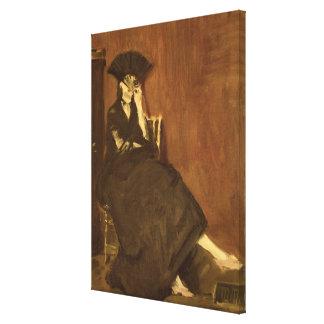 Manet | Berthe Morisot  with a Fan, 1872 Canvas Print