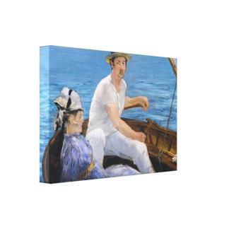 Manet Boating Canvas Print