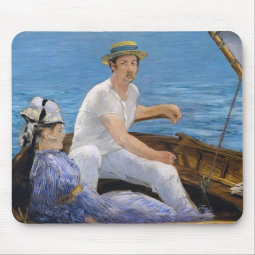 Manet Boating Mouse Pad